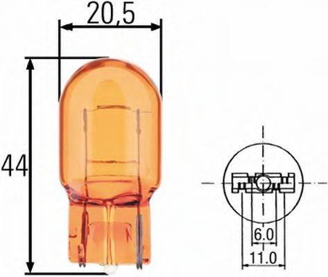 HELLA 8GP009021002 Лампа накаливания, фонарь указателя поворота; Лампа накаливания, фонарь указателя поворота