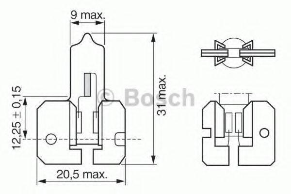 BOSCH 1987302022 Лампа накаливания, противотуманная фара